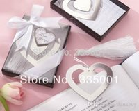 Wholesale Wedding favor Wedding celebration supplies Fashion creative gifts quot love story quot heart bookmark