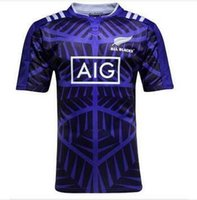 Wholesale S XXL new zealand all purple Rugby Jersey New Zealand Rugby purple blacks Jersey Shirt