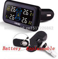 Wholesale New Car tire pressure monitoring system TPMS with internal sensors with Battery Replaceable Color display screen TPMS