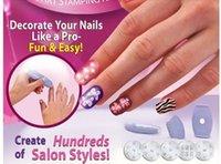 Wholesale 5pcs Salon Express Pro Nail Art Stamping Stamp Tools Image Plates Set Manicure Kit Stencil Tool DIY Designs Z00270