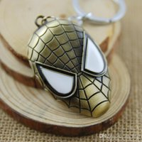 Wholesale Spiderman Marvel Movies Mental Zine Alloy Mask Key Chain Super Hero The Avengers Fashion Creative Key Rings Gift For Adults