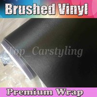 anthracite color - Darkest Grey Brushed Metallic Vinyl Wrap Film Anthracite Brushed steel alumium Car Wrap Sticker With Air Channle x30m Roll ftx98ft