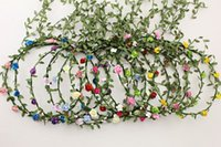 Wholesale Creative Floral Flower Wreaths Romantic Boho Forehead Hair Crafts Headband Garland Girl Women Wedding Party Accessories