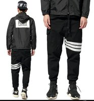 Cheap Free shipping Autumn winter design skateboard 3M Reflective article screw thread Beam foot trousers Overalls