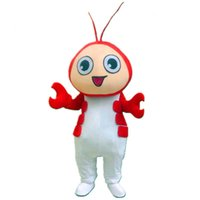 Wholesale Cute Advertising Mascots - Cute Shrimp Lobster Mascot Costume Deluxe Fancy Dress Outfit for Advertising Hot