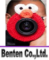 Wholesale LLFA7797 Crochet Camera lens buddy for baby Crochet lens critter SLR Camera Lens Buddies lens jacket Photographer helper Photography props