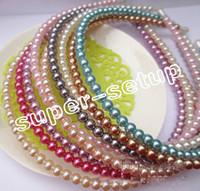 basic accessories - 15pcs hair Accessories Basic head band woman girl Lady ABS imitation pearl hair band headbands FJ3127