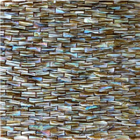 Wholesale 3D Brick Natural Color Pearl Tile Mother of Pearl Shell Mosaic Tile for Backsplash Hotel Villa