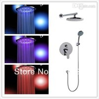 bathrom set - mixer antique inch cm brass lighting shower led head whole shower set together good cheap price for promotion bathrom tools