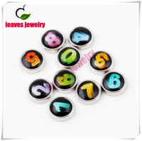 arabic jewelry - Hot selling Arabic numbers Rhinestones Metal Digit numeric character Floating Charms For Glass Locket Pendants Jewelry
