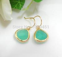 Cheap Wholesale 10pcs Gold Mint earring Dangle Drop Crystal Earrings Gift for women's earrings girls wedding birthdays gift 2015