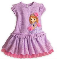 Summer factory direct clothing - 2015 summer style girls sofia dress factory direct options Children s stage costumes baby girl kids party dresses clothing