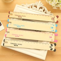 Wholesale 5pcs Korean Cute Wooden Ruler Animal Shape Gift Stationery Supplies Stationery Quilting Tools Kawaii Papeleria School Supplies