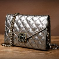 Wholesale landscape orientation square plaid cord lock Women day clutch womens gold chain messenger bag women handbag evening bags