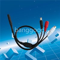 Wholesale 1Pcs Mini Microphone Mic Audio Cable For CCTV Security Camera With Power Cable