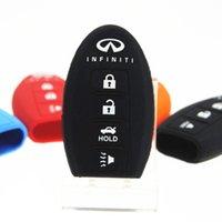 Boîtier de protection en silicone pour Infiniti G25 G37 berline JX35 Q50 Q60 Q60 Q70 QX50 QX60 QX70 QX80 FX EX porte clé porte-clés