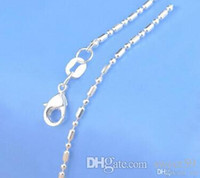 Wholesale New Jewelry Chains quot Sterling Silver Link Necklace Set Chains Lobster Clasps Mix Styles