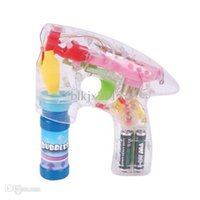bubble gun - Light Up LED Transparent Bubble Gun Outdoor Toys Kids Water Bubble Gun Soap Bubble Blower