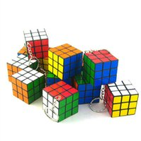 puzzle ring - Key Chains Magic Cube Key Rings Keychain Rubik Cube x3x3cm Puzzle Magic Game Toy Key Keychain