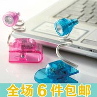 battery belt clip - Mixed order High quality led c066 belt clip reading light small table lamp books clamp lights small book light color