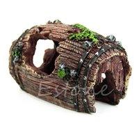 aquarium resin - Aquarium Fish Tank Resin Barrel Caves Ornament Furnishing Landscaping Decoration order lt no track