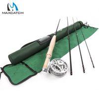 Wholesale Maxcatch Fly Fishing Rod Fly Reel Combo FT wt Medium Fast Fly Rod