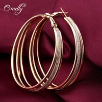 basketball hoop prices - Trendy Bling Basketball Wives Hoop Mutil Layers Hoop Earrings With Gold Filled Wedding Jewelry for Women Girls Low Price