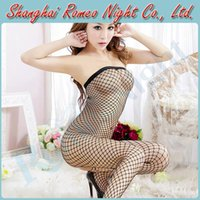 sexloves - Desire See through Crotchless Mesh Strapless Bodystocking Women Sexy Lingerie Costumes Erotic Suit