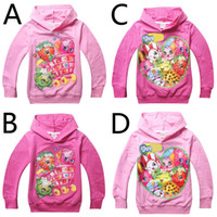 Wholesale 12pcs season children hoodies style girls hooded sweatshirts Fruit printed kids long sleeve pullover baby girls clothes HX