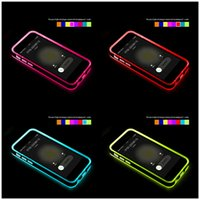 Cheap 2015 iphone 6s case incoming calls LED flash light Up cases TPU+PC cover for iphone 5 5s 4 6 6s plus Samsung Galaxy note 3 4 S6
