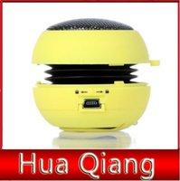 Wholesale 10pcs New arrival Portable pocket Mini Hamburger Speaker for iPhone iPad iPod Laptop PC MP3 Audio Amplifier
