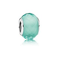 green synthetic - 2015 Pandora Summer Collection New Petite Facets Synthetic Green Quartz Murano glass bead For European Style Diy Jewerly Making