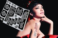 Wholesale Many Styles cm Tattoo Airbrush Stencils for Painting Large Henna Stencil Template Tattoo Accessories Body Painting Kit Supplies