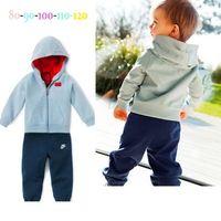 Wholesale Top Quality cotton cartoon baby kids suits Children casual hoodie sets Baby Suits pajamas Fashion kids clothes LJJD838 sets