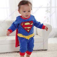 romper dress - 2015 New arrival Superman Suit Fancy Dress Super Hero Costume Jumpsuit for Baby Toddler Kid Boys Romper Gift SV000172