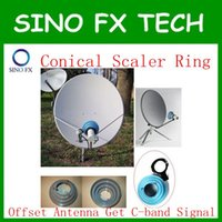 aluminum satellite dish - DHL c band aluminum Conical Scalar Ring Kit bracket for Ku offset satellite dish antennas