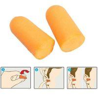 Wholesale Pair Comfortable Memory Foam Disposable Ear Plugs Earplugs Noise Reducer M