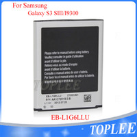 Wholesale High quality Battery Akku Accu Bateria EB L1G6LLU mAh for Samsung Galaxy S3 i9300 i9305 Factory wholsale