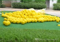 Wholesale New golf Balls Soft Indoor Practice PU Yellow Golf Balls Training Aid golf pelotas TY439
