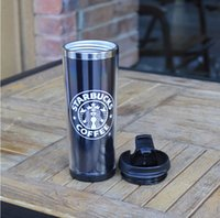 starbucks - D36 Min order pc Starbucks Stainless Steel Mug Flexible Double Wall Cups Coffee Cup Mug Tea Travelling Mugs Tea Cups Wine Cups
