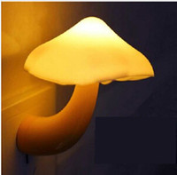 Wholesale night light Sensor light LED electric induction small mushroom photosensitive lights wall lamp random