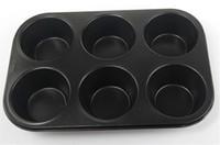 bake king - Creative design cup king size big muffin pan round top nonstick large microwave muffin baking pan muffin bakeware cupcake mold