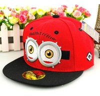Spring / Autumn minion hat - 2015 Children Boys Girls Despicable Me Hats Kids Accessories Caps Base Ball Hat Boy Girl Student Minions Cap Red Yellow Orange Blue D3577