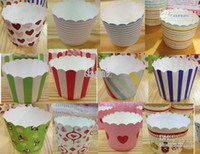 paper cupcake box - Round bucket paper cake cups MUFFIN CUPCAKE CASES bake baking cup cake holder