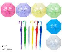 Wholesale Fashion clear transparent umbrella EVC Long handle rain umbrellas see through summer holidays children gifts OEM New