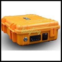 pelican - Dnail Kit with Pelican Case Digital PID Electronic E nail Dab Titanium E Nail Domeless D Nail E Nail Box Vaporizer In Black Yellow Colors