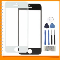 Cheap Front Outer Screen Glass Lens Cover Replacement Digitizer for iPhone 5 V with Repair Kit - Black White
