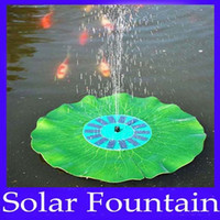 Wholesale solar floating lotus fountain pump