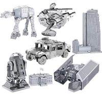 Wholesale DIY D Models Metallic Nano Puzzle star wars F15 R2D2 robot kits for kids adult Chirstmas gift Free DHL