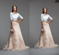Wholesale New Designer Ruffles Flouncing Tulle Skirts Long Length Tiered Custom Made Cheap In Stock Wedding Dress Prom Gown Tulle